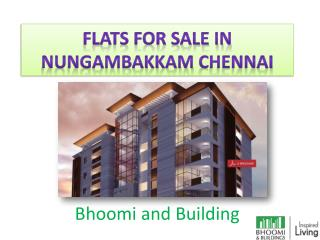 Flats, Apartments for sale in Nungambakkam, Luxury apartments in Nungambakkam,- Bhoomiandbuilding