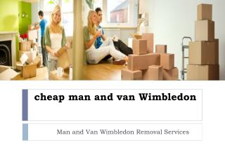 cheap man and van Wimbledon