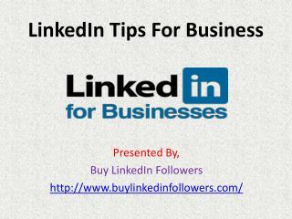 LinkedIn Tips For Business