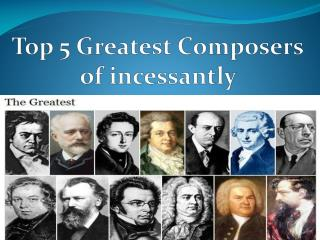 Steven Catalfamo -  Greatest Composers of incessantly