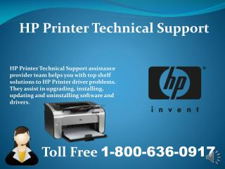 1-800-636-0917 HP Printer Customer Support Number