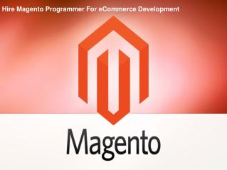 Hire Magento Programmer For eCommerce Development