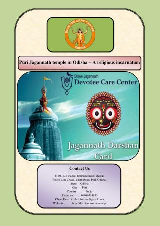 Puri Jagannath temple in Odisha – A religious incarnation