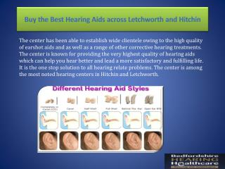 Buy the Best Hearing Aids across Letchworth and Hitchin