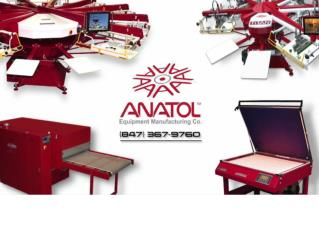 Screen printing equipment - Anatol
