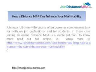 Full Time MBA Vs Distance MBA in India