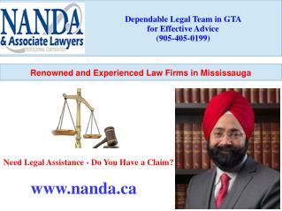 Renowned and Experienced Law Firms in Mississauga