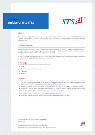 STS Case Study for Enterprise Application for IT & ITes