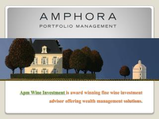 Amphora Portfolio Management Website