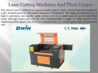 Laser Cutting Machines And Their Usages