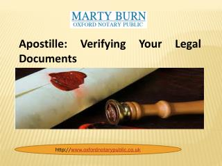 Apostille: Verifying Your Legal Documents