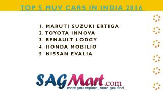 Find The List of Top 5 MUV Cars in India