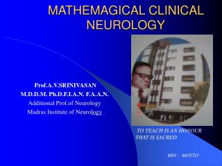 MATHEMAGICAL CLINICAL NEUROLOGY