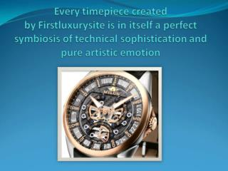 Firstluxurysite is in itself a perfect symbiosis of technical sophistication and pure artistic emotion
