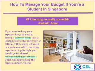 How to manage your budget if you're a student in Singapore