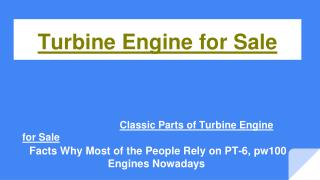 Parts and Clasic Turbine engines for sale in Prattavile