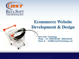 Ecommerce Website Design & Development at Beta Soft Technology