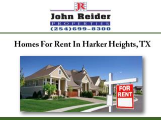 Homes For Rent In Harker Heights, TX