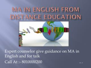 Distance Learning Ma in English 8010000200