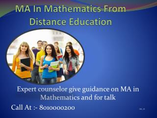 Distance Learning Ma in mathematics 8010000200