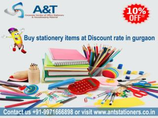 Largest Stationery supplier in Gurgaon - A&T Stationers