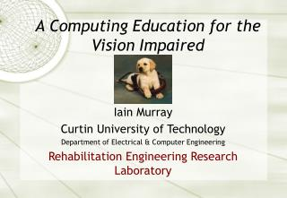 A Computing Education for the Vision Impaired