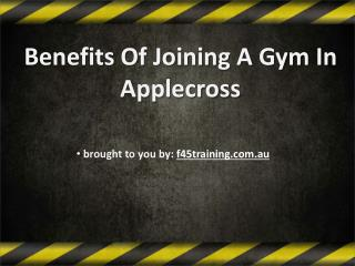 Benefits Of Joining A Gym In Applecross