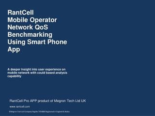 Network Speed Test-3G/4G/CDMA - Rantcell