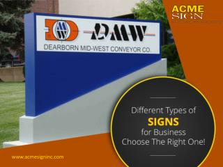Different Types of Business Signs - Pick the Best!