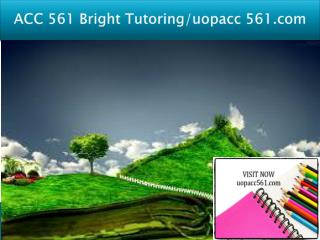 ACC 561 Bright Tutoring/uopacc 561.com