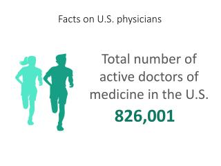 Facts on U.S. physicians-Total number of active doctors of medicine in the U.S.826,001