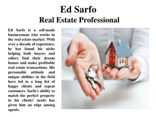 Ed Sarfo  Real Estate Professional