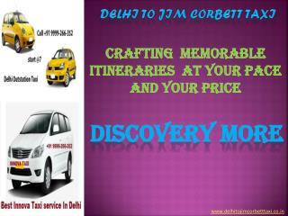 Delhi to Jim Corbett Taxi