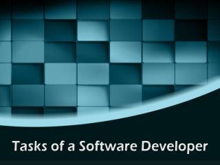 Tasks of a Software Developer