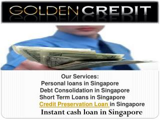 Credit Preservation Loan-Rebuild your credit