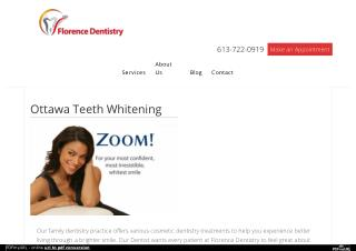 Best Ottawa Teeth Whitening – Zoom Teeth Whitening Service