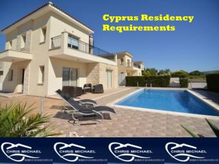 Cyprus Residency Requirements