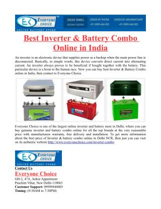 Best Inverter & Battery Combo Online in India