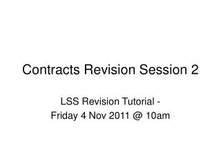 Contracts Revision Session 2