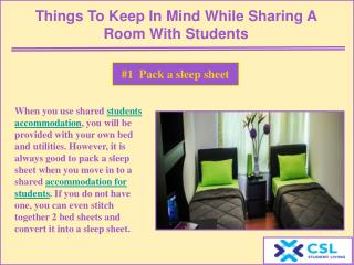 Things to keep in mind while sharing a room with students
