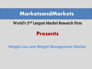 Weight Loss and Weight Management Market worth $206.4 Billion by 2019