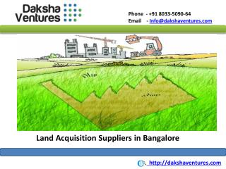 Land Acquisition Service in Bangalore