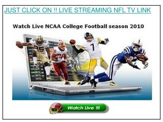 Watch Baltimore Ravens vs Pittsburgh Steelers Live Streaming