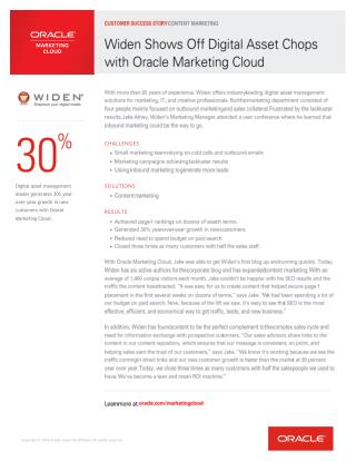 Widen-Customer-Success-Oracle