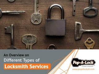 Different Roles of Locksmiths and Their Services
