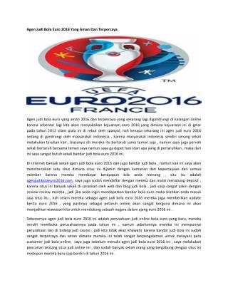 Agen Judi Bola Euro 2016 Yang Aman Dan Terpercaya.pdf