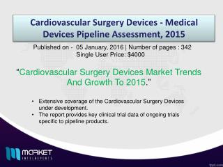 Global Cardiovascular Surgery Devices Market Forecast & Future Industry Trends