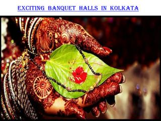 Exciting banquet halls in Kolkata