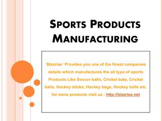 Hockey Sticks, Hockey Bags Manufacturers & Exporters - Bizzrise