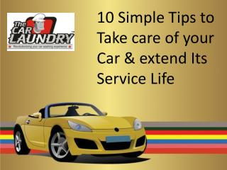 10 Simple Tips To Take Care Of Your Car